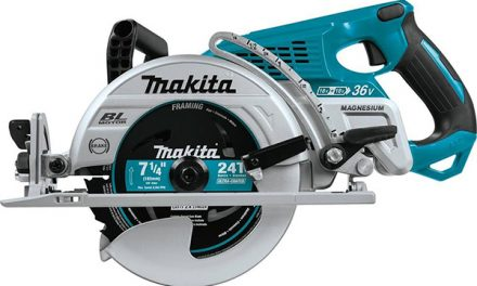 "The World's First Battery-Powered Rear-Handle 7-1/4"" Circular Saw"