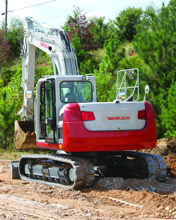 Takeuchi release new hydraulic excavator, the TB2150. It's the largest in their lineup.