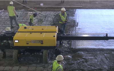 Boom-Operated Screed Has 16′ Reach, Covers 200 Square Feet Per Pass