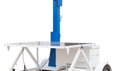 Solar Powered Portable Light Tower on Seven Foot Trailer