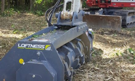 Mulching Attachment Designed for 7- to 15-Ton Excavators