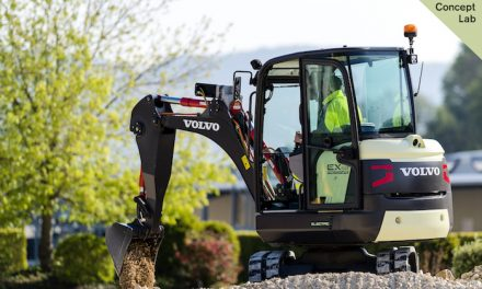100% Electric Compact Excavator Prototype Unveiled by Volvo CE